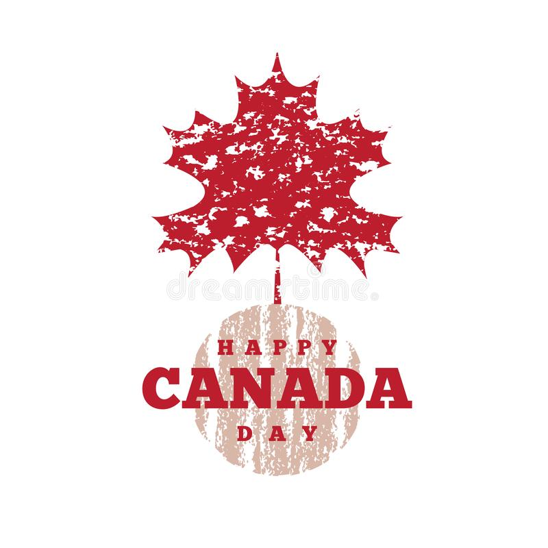 Il Canada day1 illustrazione vettoriale