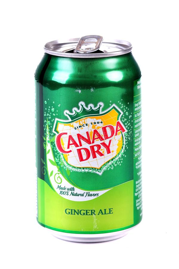 Il Canada Ginger Ale asciutto fotografia stock