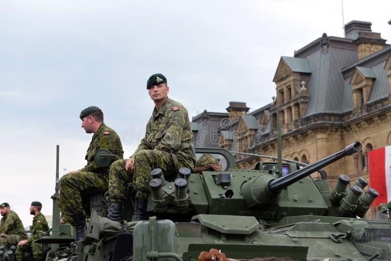 Il Canada onora i veterani che sono servito in Afghanistan immagini stock libere da diritti