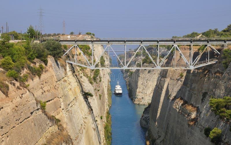 Il canale di Corinth fotografia stock libera da diritti