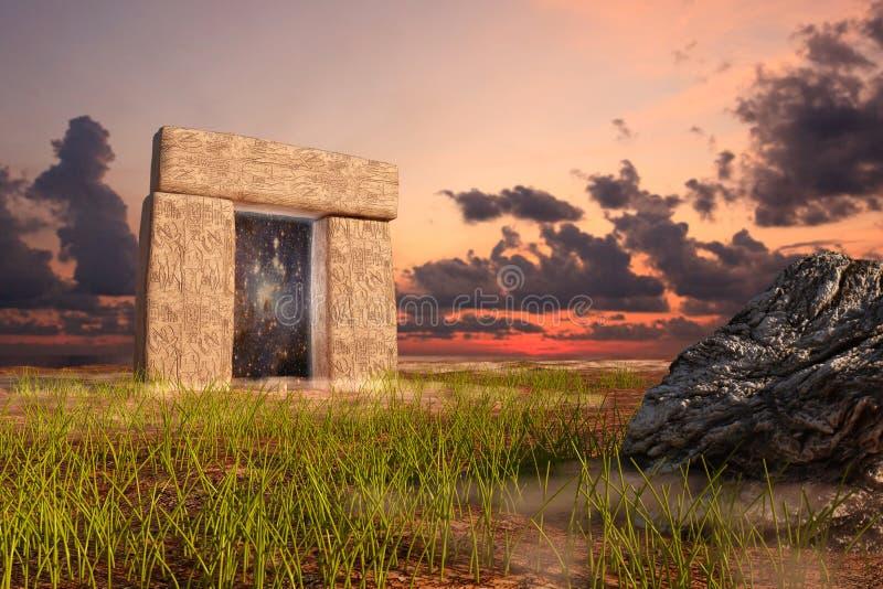 Il cancello illustrazione vettoriale
