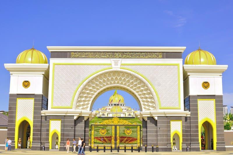 Il cancello del palazzo del cittadino della Malesia fotografia stock