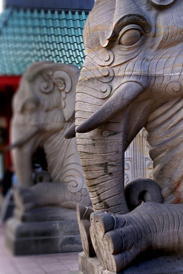 Il cancello dell'elefante immagine stock