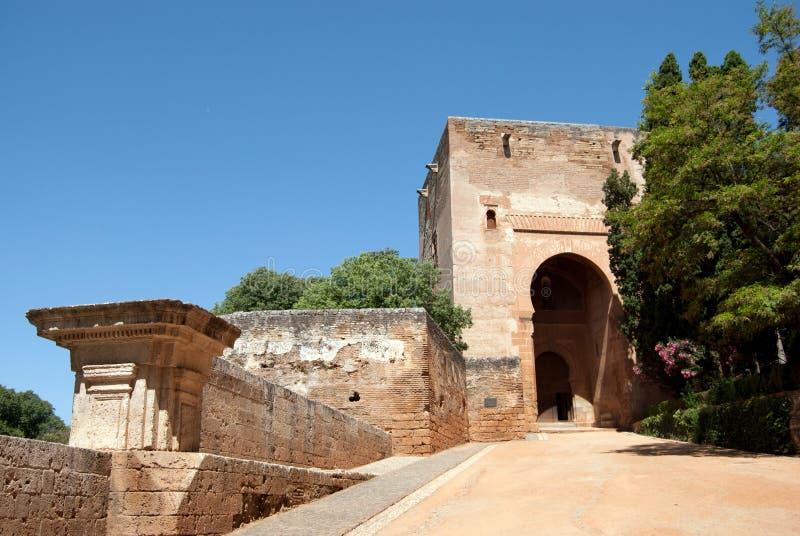 Il cancello di giustizia a Alhambra fotografia stock libera da diritti