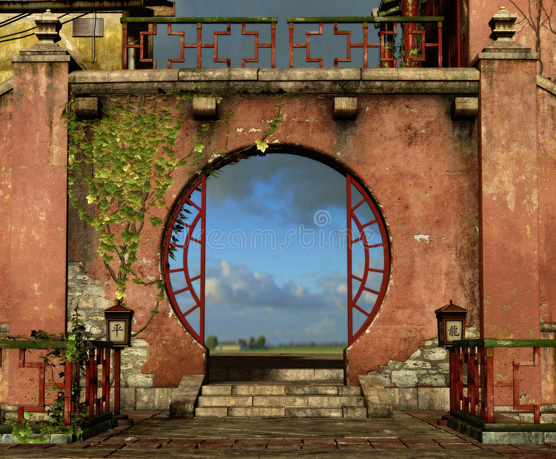 Il cancello rotondo illustrazione vettoriale