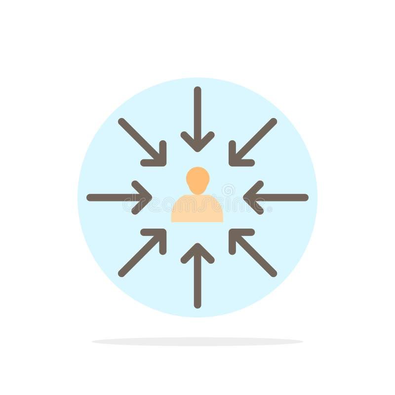 Il candidato, scelta, sceglie, mette a fuoco, icona piana di colore del fondo del cerchio dell'estratto di selezione royalty illustrazione gratis