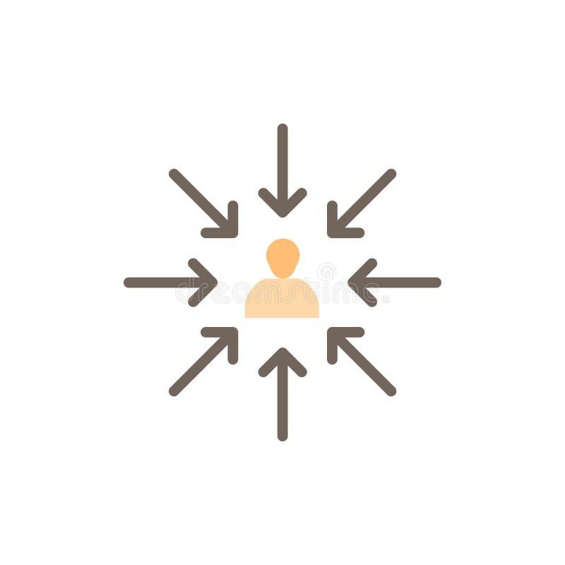 Il candidato, scelta, sceglie, mette a fuoco, icona piana di colore di selezione Modello dell'insegna dell'icona di vettore illustrazione vettoriale