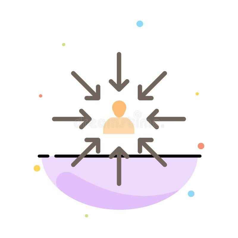Il candidato, scelta, sceglie, mette a fuoco, modello piano dell'icona di colore dell'estratto di selezione royalty illustrazione gratis