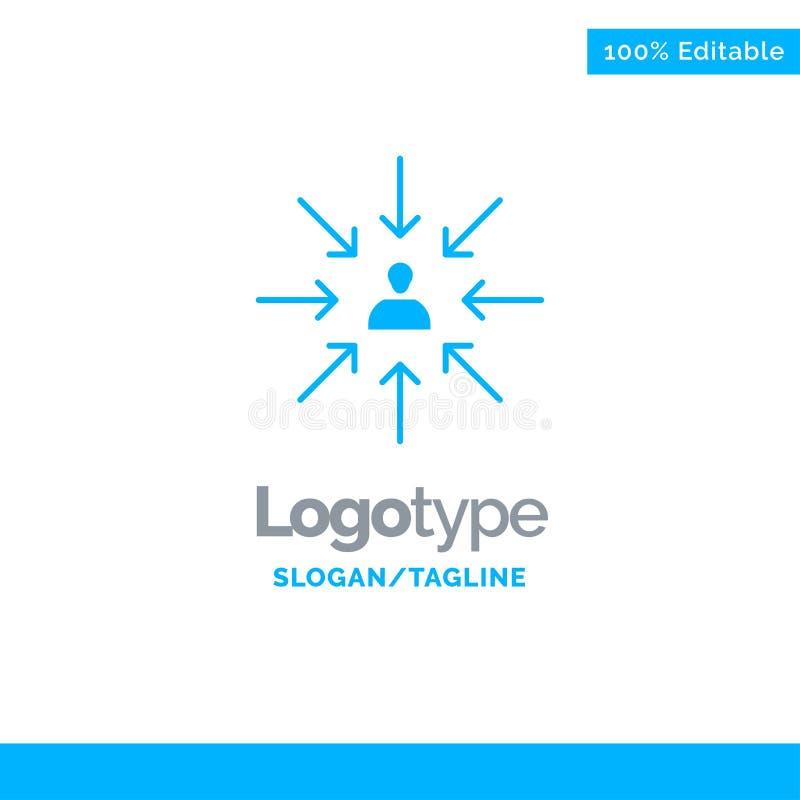 Il candidato, scelta, sceglie, mette a fuoco, selezione Logo Template solido blu Posto per il Tagline illustrazione di stock