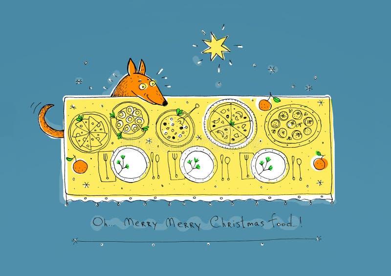 Il cane della testarossa (volpi) celebra il Natale royalty illustrazione gratis
