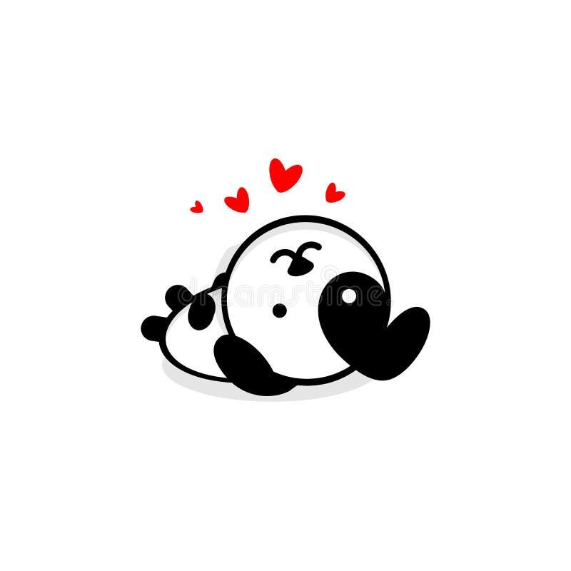 Il cane sveglio nell'amore ed il resto vector l'illustrazione, il logo del cucciolo del bambino, nuova arte di progettazione, Pet illustrazione di stock