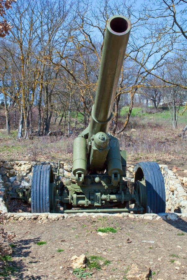 Il cannone tedesco fotografie stock