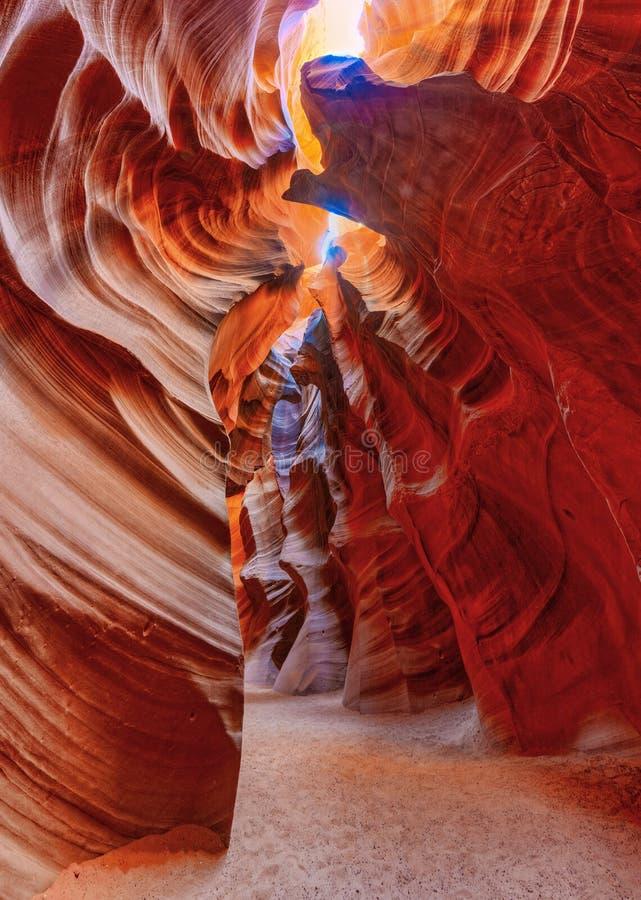 Il canyon dell'antilope è un canyon della scanalatura nel sud-ovest americano immagini stock libere da diritti