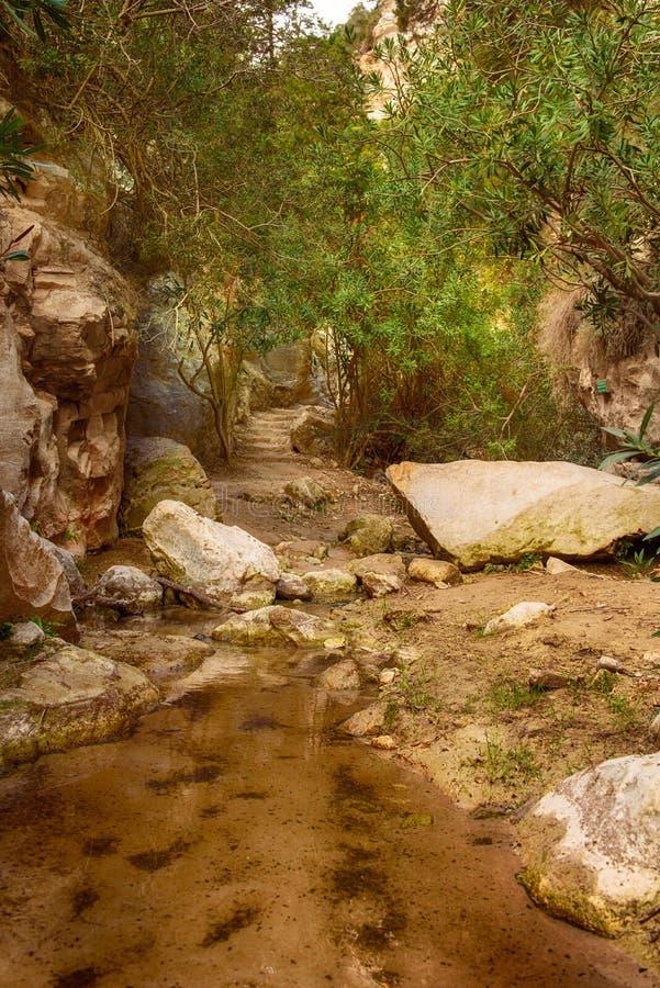 Il canyon di Avakas fotografie stock libere da diritti