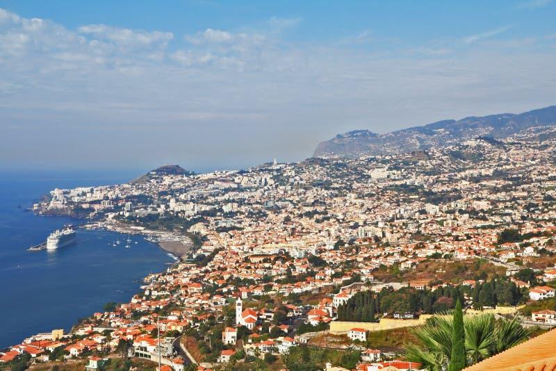 Il capitale della città della Madera Funchal fotografie stock libere da diritti