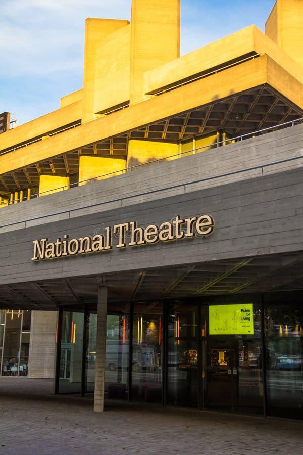 Il capolavoro iconico del teatro nazionale reale di nuovo Brutalism Londra fotografie stock libere da diritti