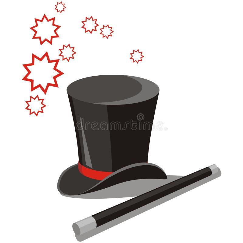 Il cappello magico ha impostato 02 illustrazione di stock