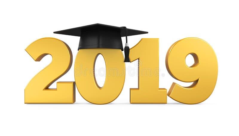 Il cappuccio 2019 di graduazione ha isolato royalty illustrazione gratis