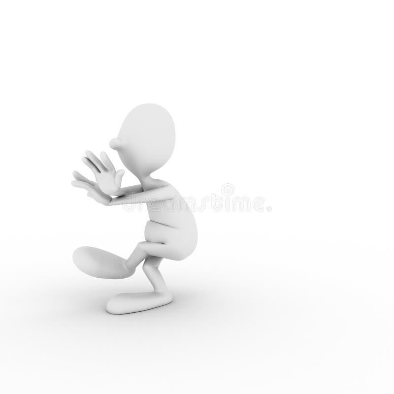 Il carattere è agganciato in ginnastica Wushu fotografie stock libere da diritti
