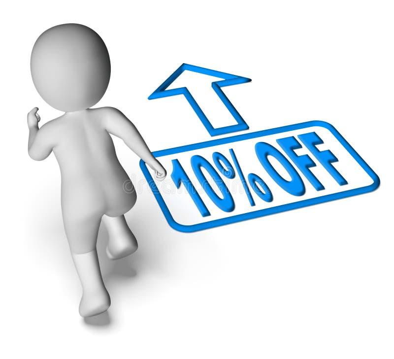 Il carattere corrente mostra a sconto di vendita dieci per cento illustrazione vettoriale