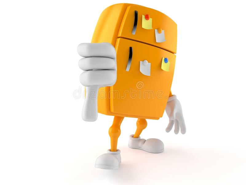 Il carattere del frigorifero con i pollici giù gesture royalty illustrazione gratis