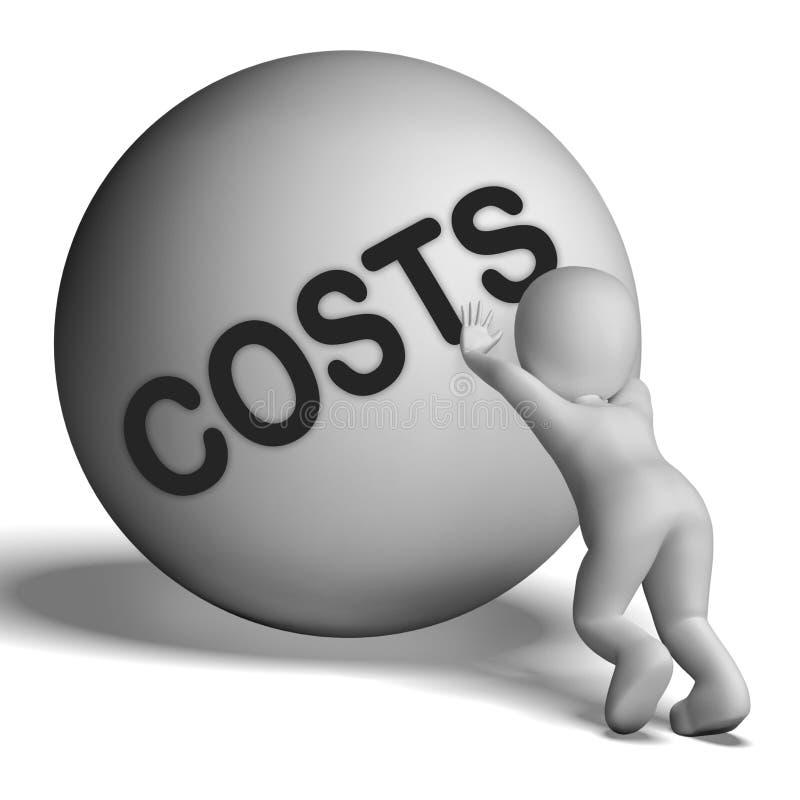 Il carattere di costi significa il prezzo e la spesa di spese illustrazione vettoriale