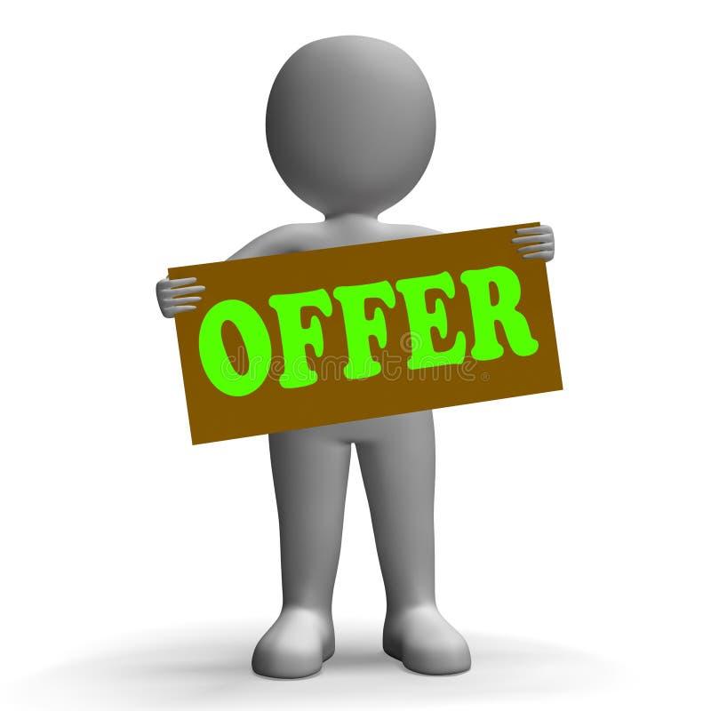 Il carattere di segno di offerta significa le offerte speciali e illustrazione vettoriale