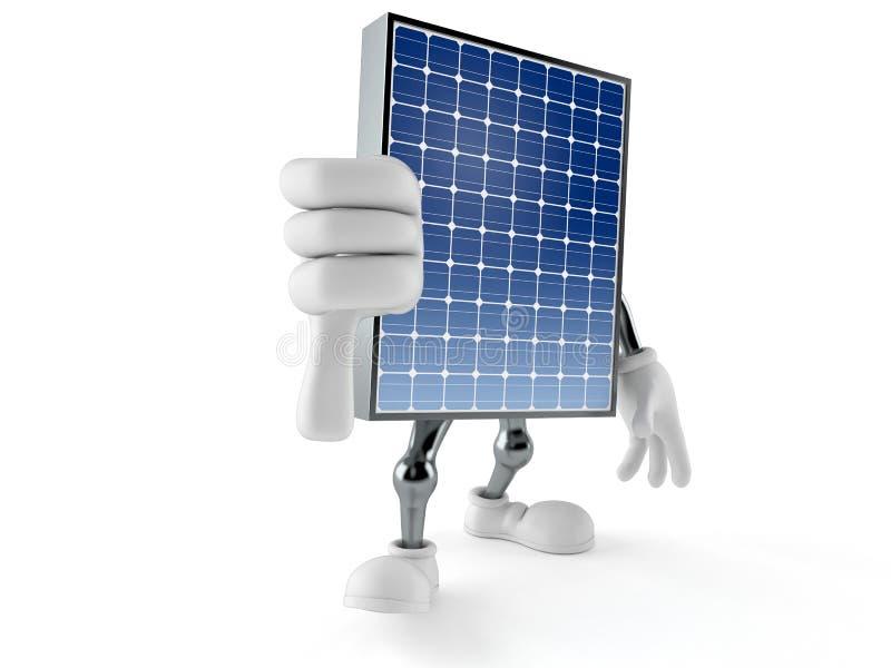 Il carattere fotovoltaico del pannello con i pollici giù gesture royalty illustrazione gratis