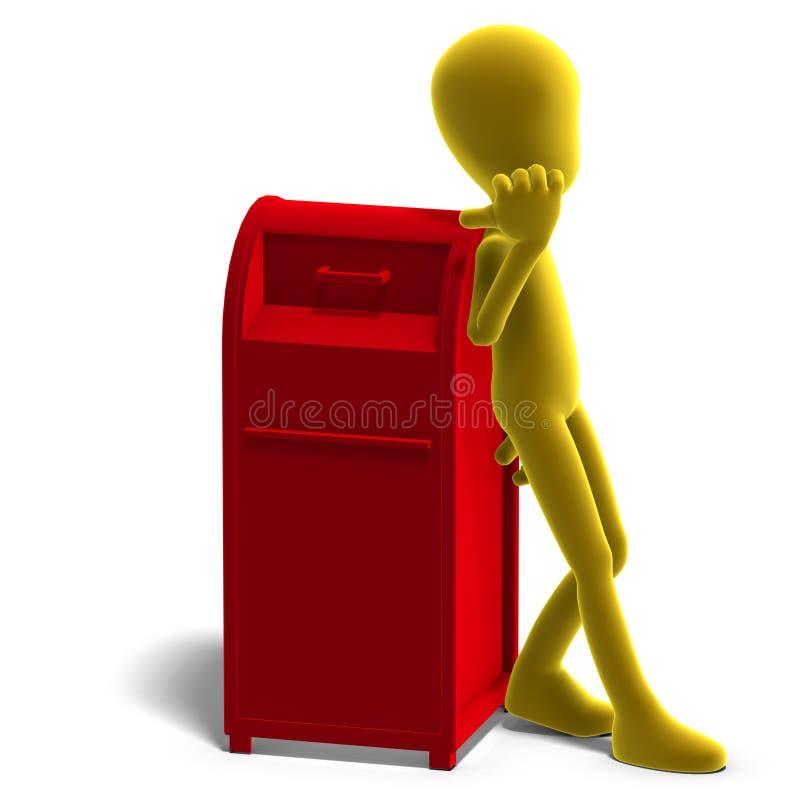 Il carattere maschio simbolico di 3d Toon dice che voi illustrazione di stock