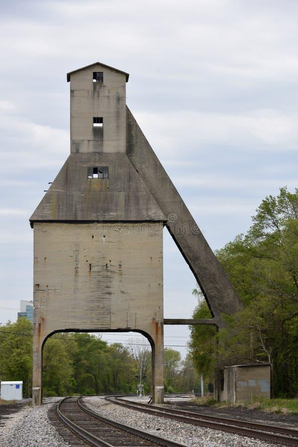Il carbone della città del Michigan Tipple fotografie stock libere da diritti