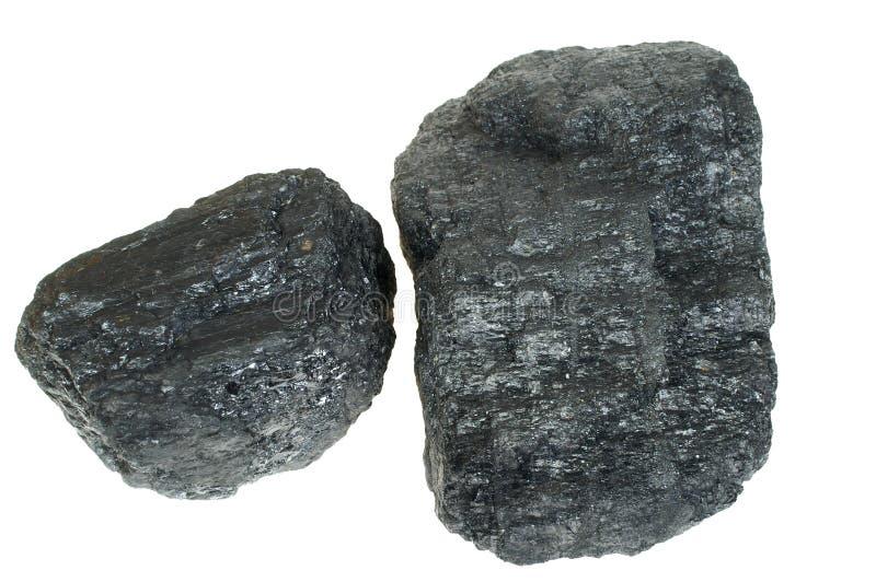 Il carbone ha isolato immagini stock