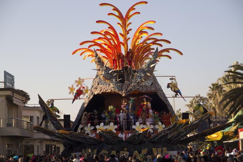 Il carnevale di Viareggio fotografia stock libera da diritti