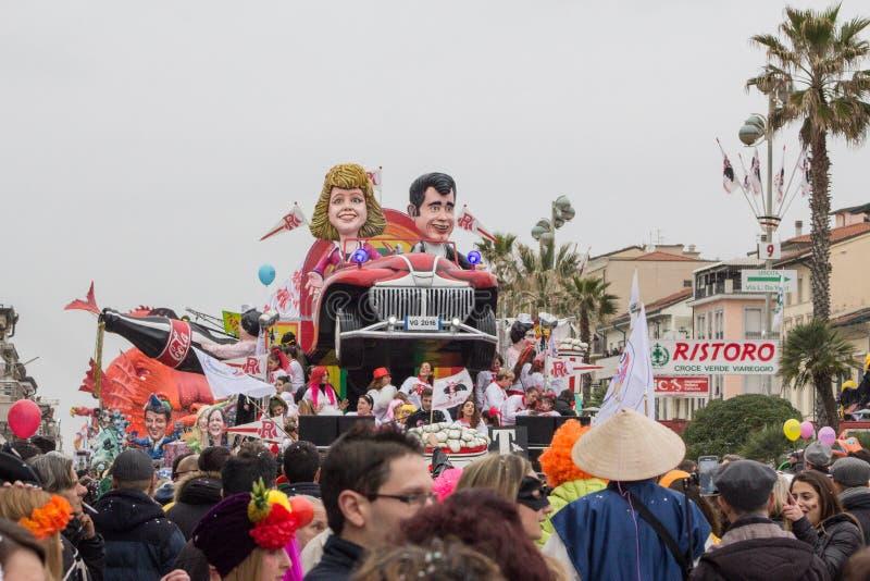Il carnevale 2016 di Viareggio immagini stock