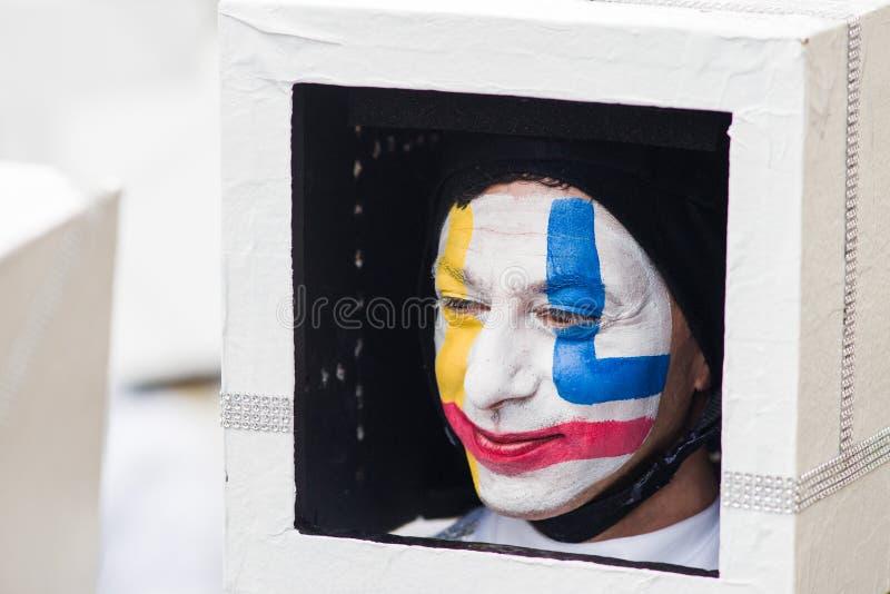 Il carnevale di Viareggio, edizione 2019 immagine stock libera da diritti