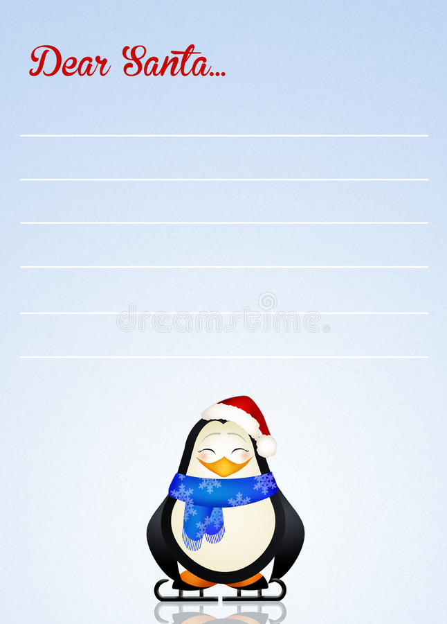 Il caro Babbo Natale illustrazione di stock