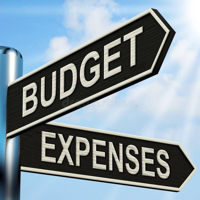 Il cartello di spese del bilancio significa l'affare illustrazione di stock