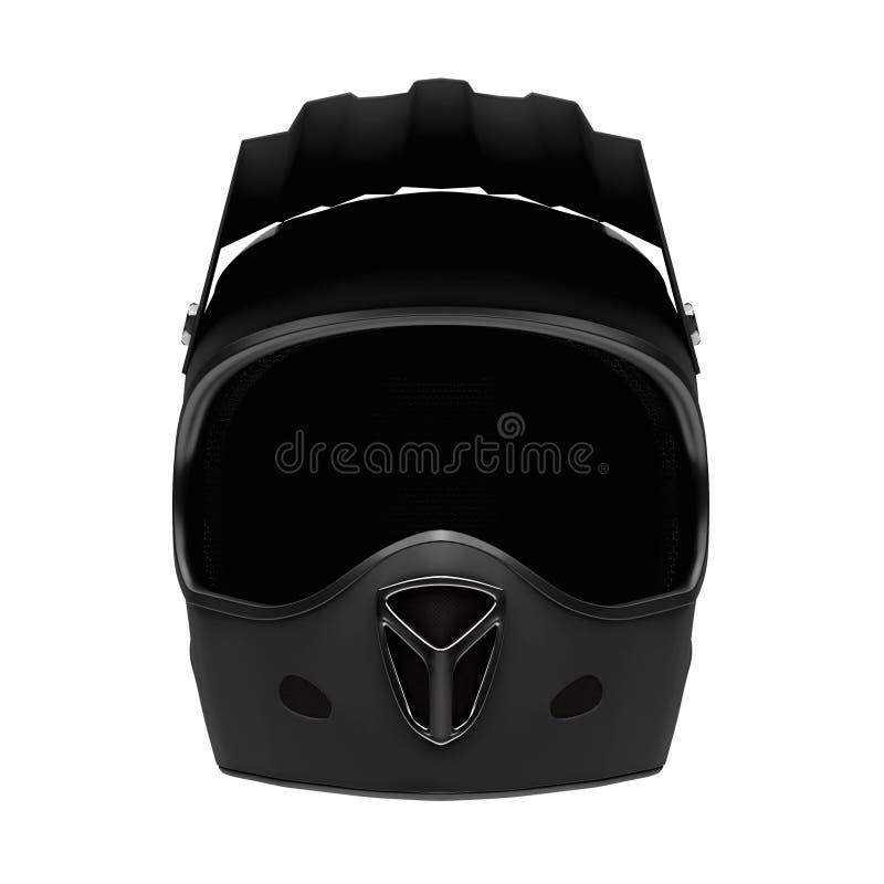 Il casco del fronte pieno del motociclo di sport ha isolato royalty illustrazione gratis