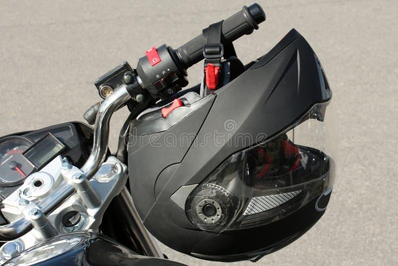 Il casco del motociclista fotografia stock