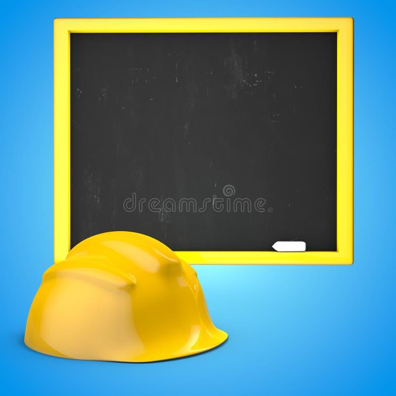 Il casco giallo 3D della costruzione rende l'illustrazione royalty illustrazione gratis
