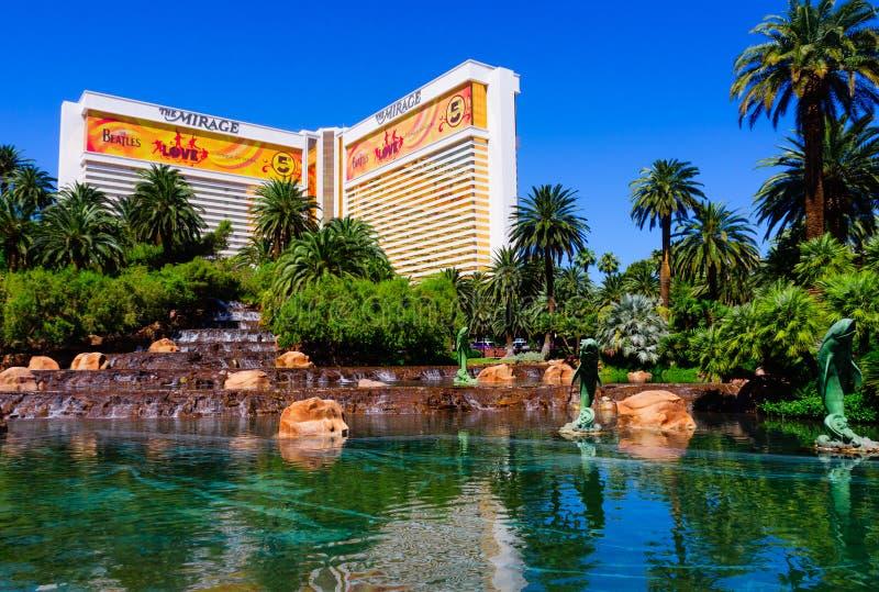 Il casinò di miraggio a Las Vegas fotografie stock libere da diritti