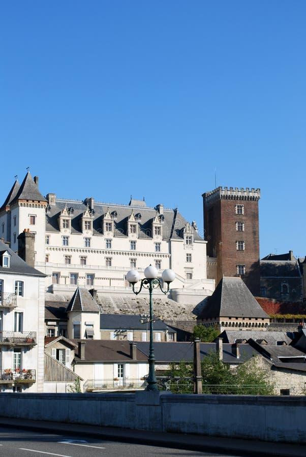 Il Castel Henri IV di Pau in Francia fotografie stock