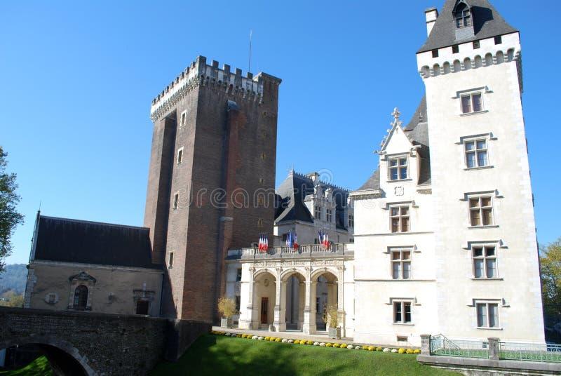 Il Castel Henri IV di Pau, Francia immagini stock libere da diritti