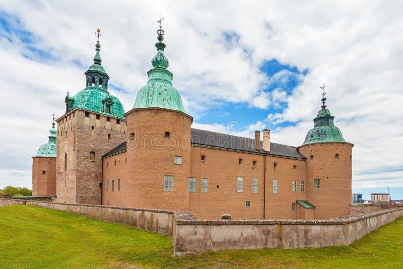 Il castello antico svedese di Kalmar nella città di Kalmar fotografie stock libere da diritti