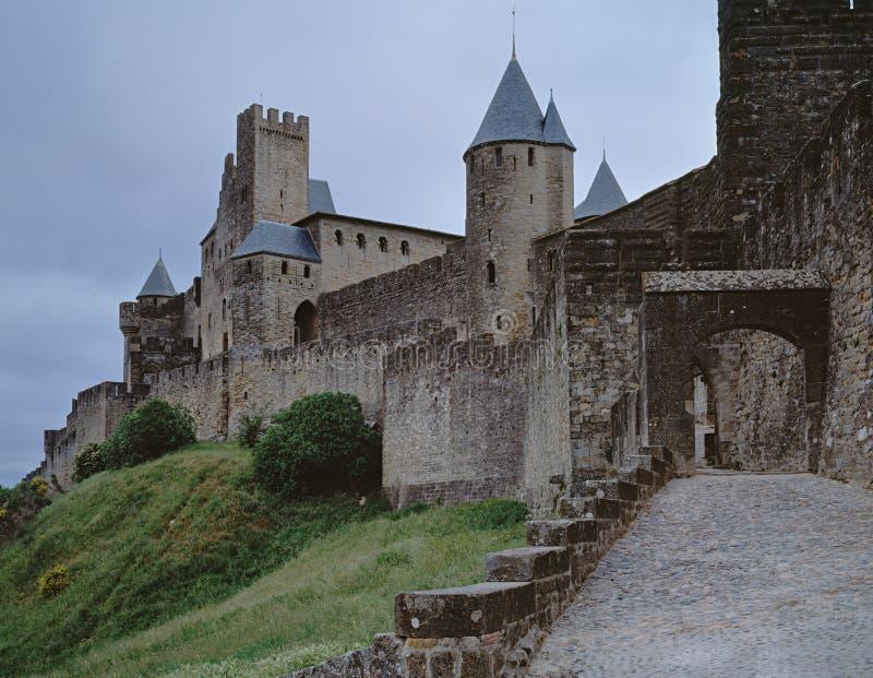 Il castello Carcassonne fotografia stock libera da diritti