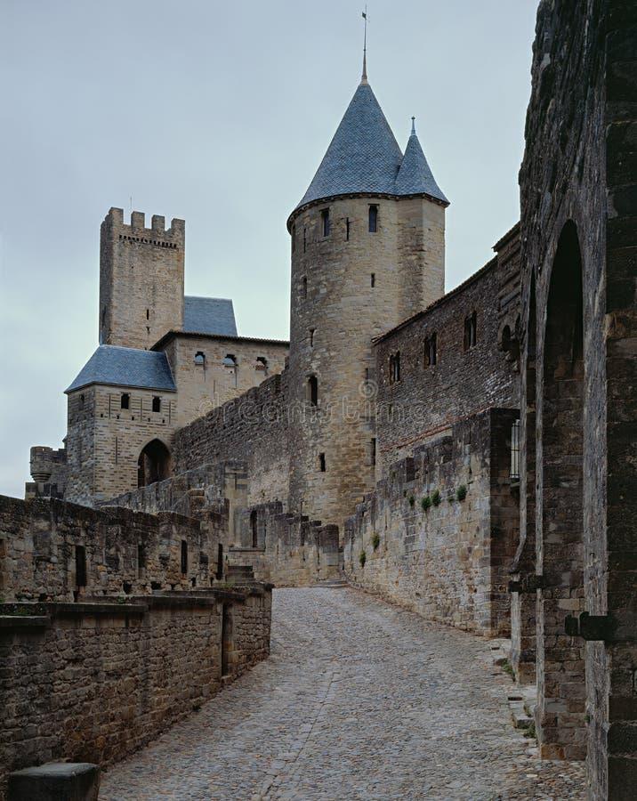 Il castello Carcassonne fotografie stock libere da diritti