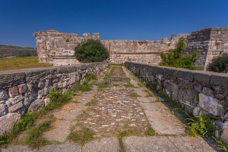 Il castello dei cavalieri di St John il battista, isola di Kos, Grecia fotografia stock