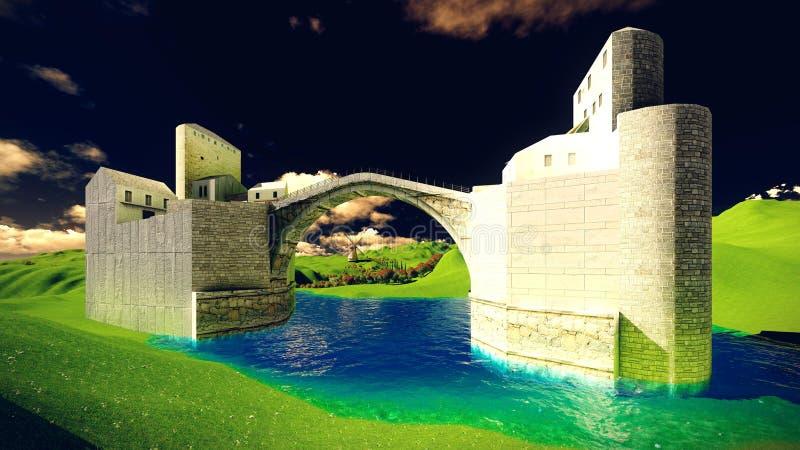 Il castello del attracca immagine stock