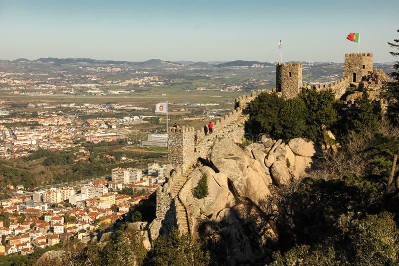 Il castello del attracca. Sintra. Il Portogallo immagine stock