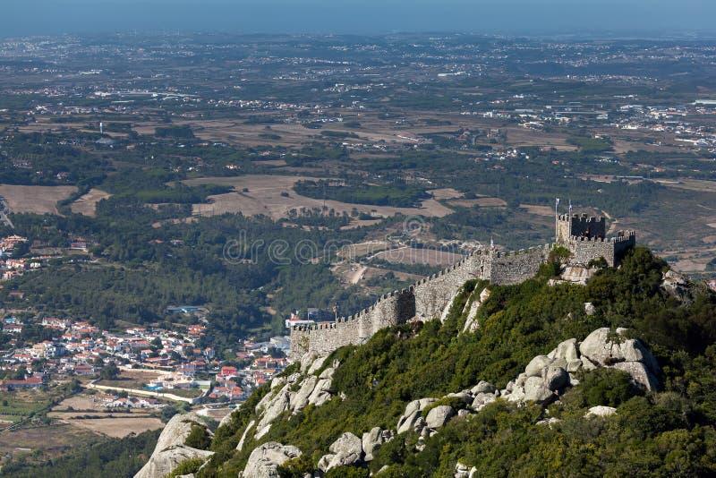 Il castello del attracca, Sintra, Portogallo fotografie stock