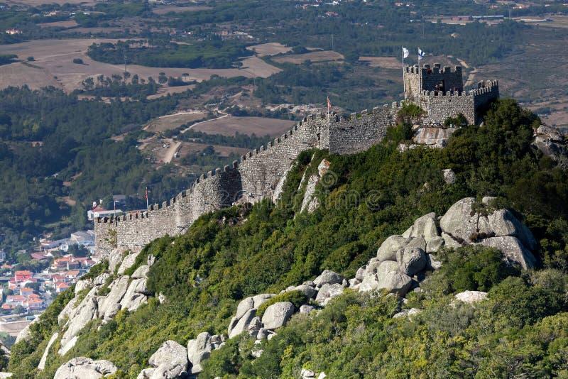 Il castello del attracca, Sintra, Portogallo fotografia stock libera da diritti